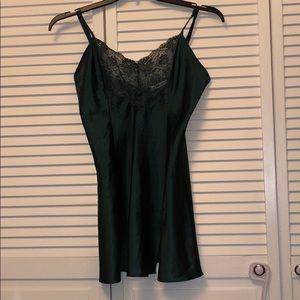 Victoria's Secret hunter green nightie slip medium